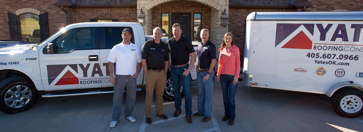 Yates Roofing & Construction roofing team