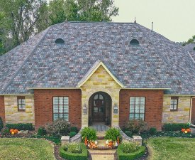 Residential roofing, Atlas StormMaster Slate IR shingle in Weathered Slate, installed by Yates Roofing and Construction in Oklahoma City