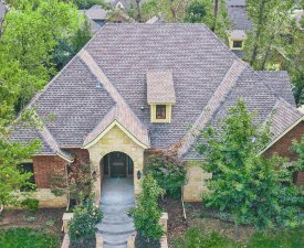 GAF Armorshield II Impact Resistant shingles in Weathered Wood. Yates Roofing and Construction in Oklahoma City