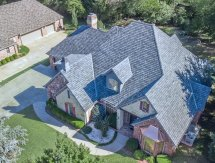 GAF Camelot II shingles in Antique Slate done by Oklahoma City, OKC roofing company, Yates Roofing and Construction in OKC