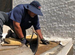 James Installing TPO Roof